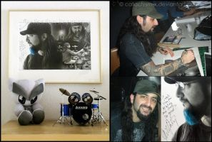 Me and Mike Portnoy by Cataclysm-X
