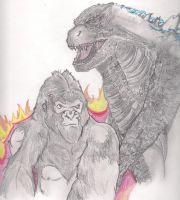 God-zilla and King Kong by TheGloriesBigJ