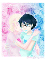 Homestuck: Cotton Candy Kiss by MirageFlames