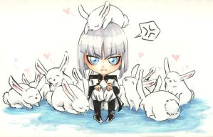Bunnies loev Yzak by beanclam