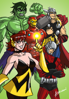 Earth's Mightiest Heroes by ADL-art