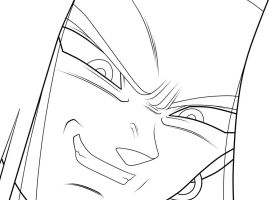 Android 17. :Lineart: by moxie2D