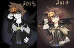 Halloween town sora old and new by NarutoxHinatafan