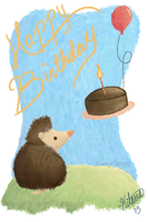 Hedgie B-Day Card 2013 by WayvDesigns