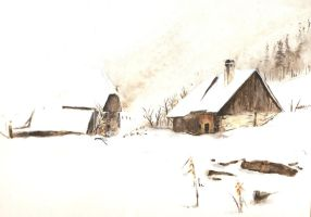 Chalets of the park of bauges by Seppyo
