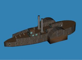 Timberclad gunboat by falcon01