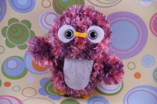 Amigurumi Pink and Purple Penguin by AmiTownCreatures
