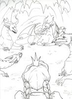 Enchanted Forest lineart2 by Alecueous