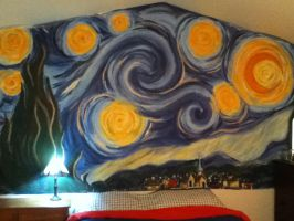 Starry Night Mural by crazymoon009