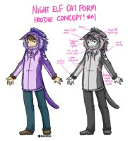 Night Elf Druid Cat Form Hoodie Concepts (WoW) by kagesatsuki