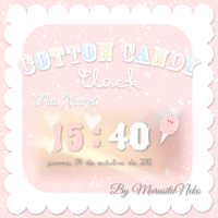 Cotton Candy Clock c: by marusitaneko