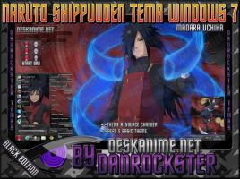 Madara Uchiha Theme Windows 7 by Danrockster