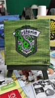 Slytherin on canvas by 88enigma