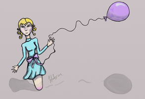 Creepy Balloon Girl by habren