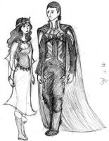Loki and Sigyn by guardianleyevermore