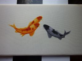 Blessing fish x-stitch WIP 2 by black-lupin