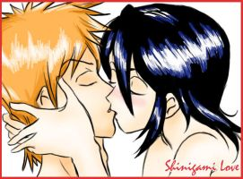 Ichigo and Rukia from Bleach by angelmisty