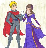 FrUK: A Knight and his Lady by starrdust411