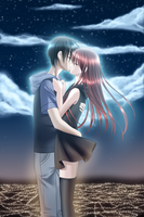 The Kiss by Murasaki-Hana