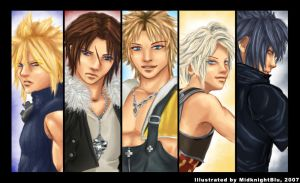 Men of Final Fantasy by midknightBLU