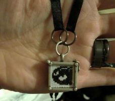 Mario Bullet XStitch Necklace by sazoidx