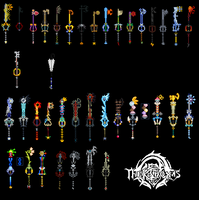 All my keyblades by TheKCroxas