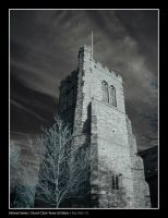 Infrared - Church Clock Tower by Raymate