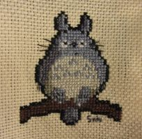 Totoro cross stitch by Santian69