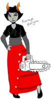 HS: Kanaya: i have a chainsaw :D by xBadgerclaw