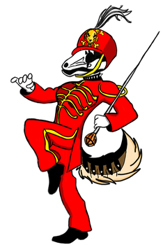 Welcome to the Red parade Skeleton Roxy wolf by Justicewolf337