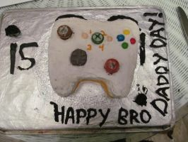 Xbox controller cake by EternalLoveAngle