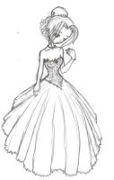 wedding dress by Jakkithebunny