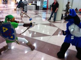 NYCC 2013 Link vs Lucario by SonicLucario