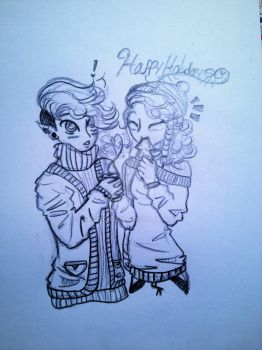Fem! Ion and Mala ::.Holiday Contest Entry.:: by Angiechan8