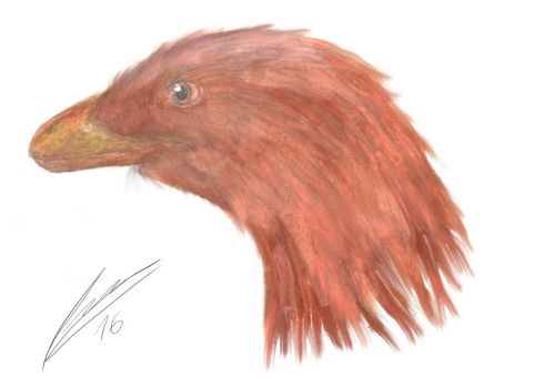 Deinonychus portrait by Evoblast99
