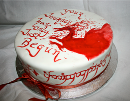 Dragon Age Lord Of the Rings Cake by star-shine-girl