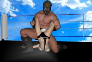 Daz3d: Mixed Wrestling test Part 13 by fulgore12
