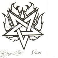 Flame Pentagram by dasatanists