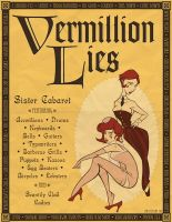 Vermillion Lies Vintage Poster by outlawink
