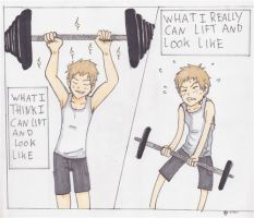 always think i can lift more then  I really can by Copper--rose
