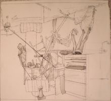 Drawing I final day still life by MyFebronia