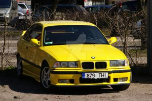 Yellow Bmw e36 Coupe by ShadowPhotography