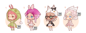 OPEN- Set price adoptables $6 by TaiyouChee