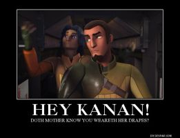 Star Wars Rebels: Kanan Weareth Drapes by BoldCurriosity