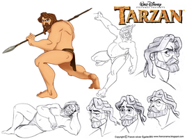 Character Design Assignment Tree: Tarzan by chillyfranco