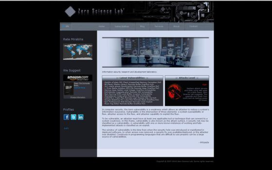 Zero Science Lab Web by liquidworm