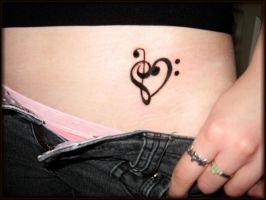 Music Heart Tattoo by AllyCatastrophe