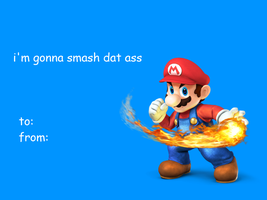 valentines card - super smash bros by LuigiBroZ