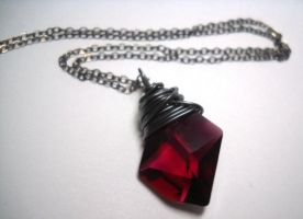 Rose Red Swarovski Crystal Ste by ClassicKeepsakes