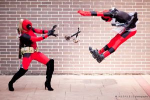 Fun with Deadpool by mineralblu
